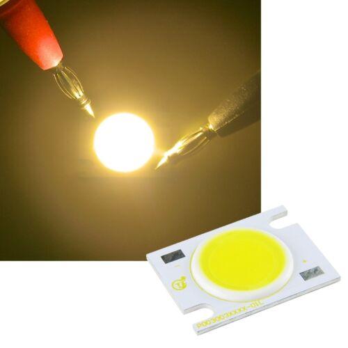 3 Watt COB HighPower LED bianco caldo 220-270lm emettitore ad alte prestazioni 3 W High Power