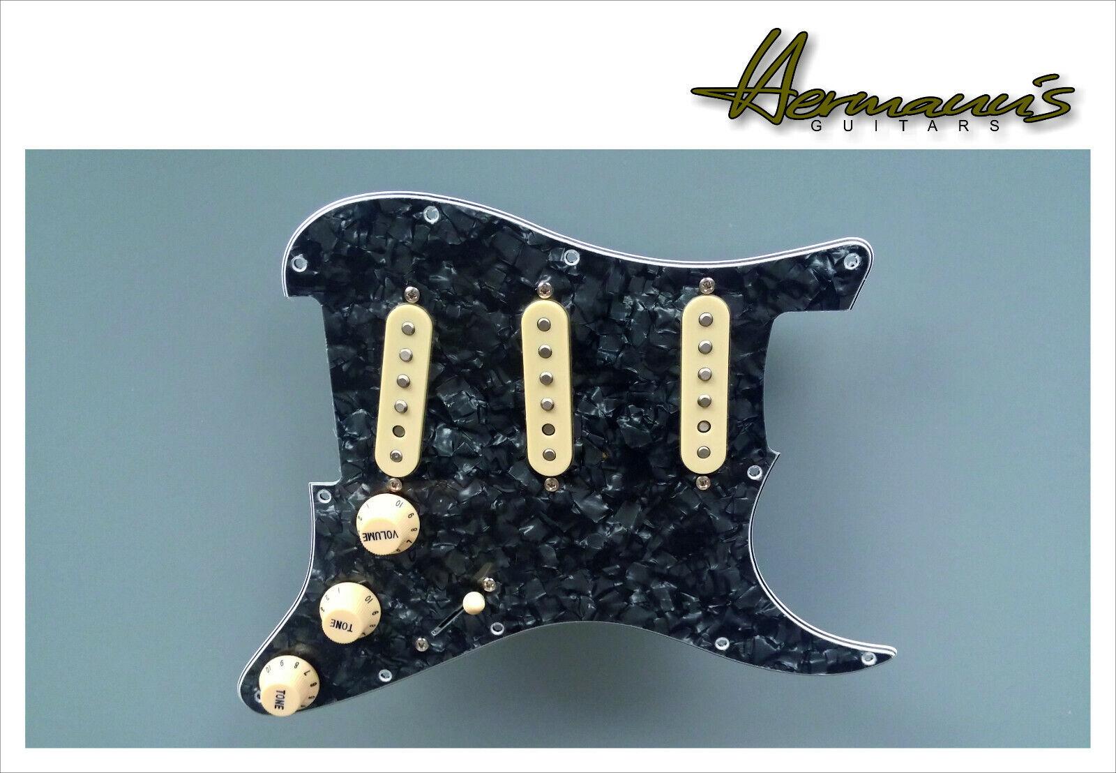 Stratocaster US battipenna, nero Pearl with handwound VINTAGE 60s Alnico 5 PU 's
