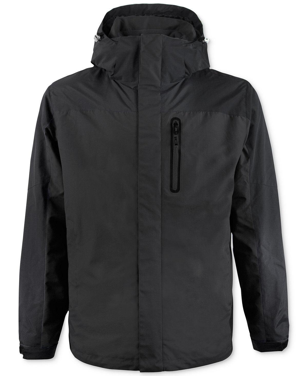 Nuevo  299 Hawke  & Co Negro para Hombre con Capucha Abrigo Chaqueta Softshell Parka aislado S  Entrega gratuita y rápida disponible.