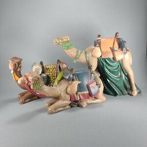 Large Ceramic Camels Nativity Set of 3