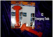 Car EMERGENCY Escape TOOL X 2 pack Window Break Hammer Safety Seat Belt Cutter