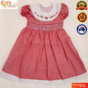 Smocked Christmas Dress.Details About Girls Christmas Dress Smocked Dress Baby Toddler Girls Vintage Classic