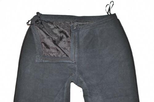 Real Pantaloni da Leather Creation creazione Women's W33 pantaloni Trousers Size Biker dritti Black Realtà in W33 nera donna pelle Pants Straight rrwBqFdPx
