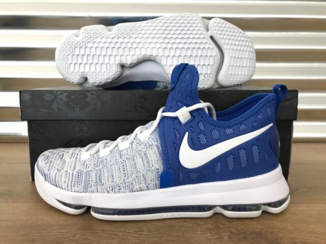 huge selection of 1da4a 508bc NIke Zoom KD 9 Basketball Shoes Kentucky Game Royal Blue White SZ (  843392-411 )