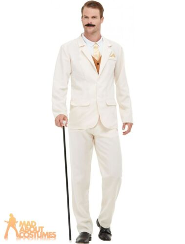 Mens 1920s Gentleman Costume Roaring 20s Victorian Adults Fancy Dress Outfit