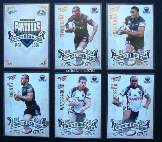 2008 NRL PENRITH PANTHERS SELECT CENTENARY OF RUGBY LEAGUE TEAM SET 6 Cards