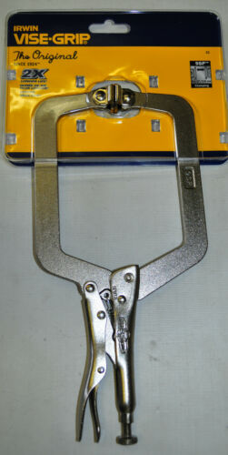 "IRWIN VISE GRIP 9SP 9 /"" LOCKING C CLAMP WITH SWIVEL PADS"