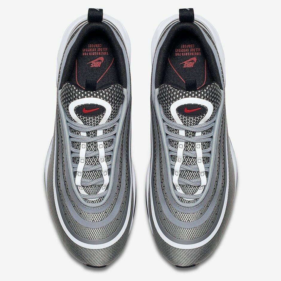 Nike Air Max 97 Ultra'17 astilla bala Reino Unido 10.5 EUR 45.5 Plata Metalizado Nuevo