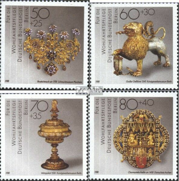 Berlin (West) 818-821 (complete.issue) unmounted mint / never hinged 1988 Welfar