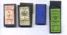 mercerie ancienne lot de 4 pochettes d'aiguilles neuves completes