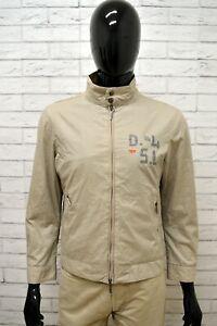 Giubbino-DIESEL-Uomo-Taglia-Size-S-Giubbotto-Giacca-Coat-Jacket-Man-Beige-Cotone