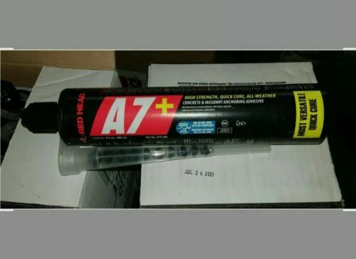 RED HEAD A7P-10 Anchoring Adhesive Acrylic 9.5 oz Brand New A7 + Details about  /1 A7+ Tube