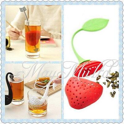 Tea Leaf Strainer Herbal Spice Tea Maker Infuser Filter Kitchen Tool E