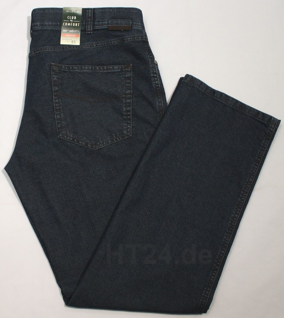 Club of Comfort Stretch Jeans James 4631 tg. 24-30, 48-60 Medio Blu Five Pocket