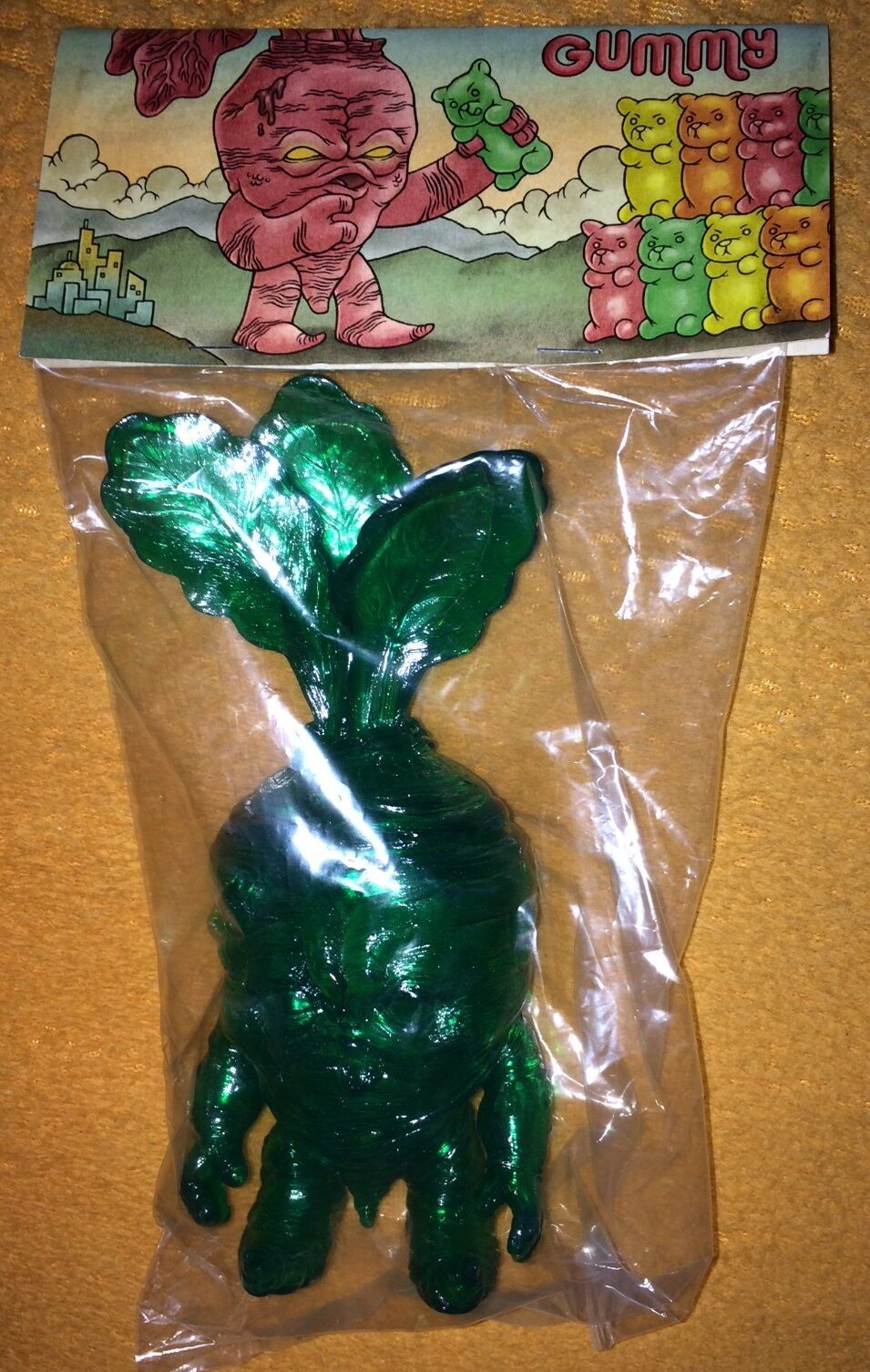 Deadbeet Gummy verde Kaiju Vinilo Arte Mancha figura Scott Tolleson Oso Raro
