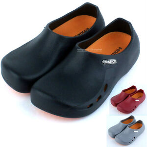 men chef shoes clog kitchen hospital non slip hole oil, water even
