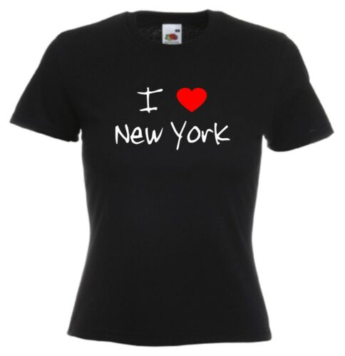I Love Hearts New York Ladies Fitted T-Shirt