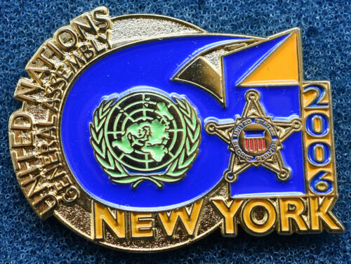 Secret Service Lapel Pin 2006 UNGA 61 UN General Assembly NYC White House POTUS
