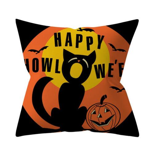Halloween Pumpkin Throw Pillow Cover Pillowcases Decor Sofa Cushion Cover Hot