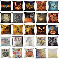Chic Multi Pattern Linen Cotton Throw Pillow Case Cushion Cover Home Sofa Decor