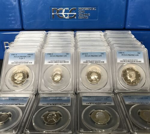 ✯ ESTATE HOARD SALE! Proof Coins BONUS 2 ✯ LOT OF PCGS Slabbed GRADED U.S