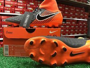 Nike-Obra-2-Academy-DF-FG-Soccer-Cleats-Grey-Orange-Size-9-5-New-In-Box