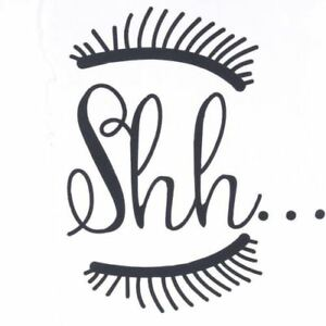 Beautiful-Shh-Eyelash-Vinyl-Wall-Sticker-Baby-Girls-Room-Door-Decal-Decor-New