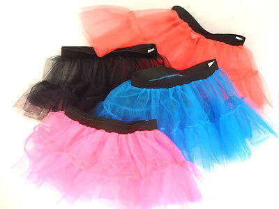 Vornehm New Womens Ladies Girls Tutu Net Skirt Flared Puffy Elasticated Retro Layers