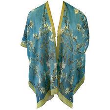 NEW NWT Cocoon House Van Gogh Almond Tree 100% Silk Jacket Kimono Large XL (1X)