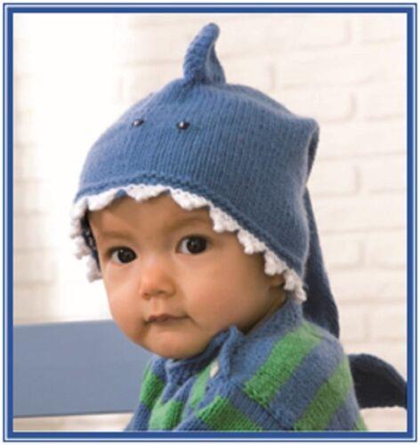 CA009 Tejer patrón Bebé Tiburón Sombrero Do Do Do Do Do de tamaños 38 o 42CM