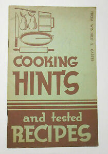 1937-Cooking-Hints-Vintage-Recipes-Cookbook-Proter-amp-Gamble-New-Crisco-Promotion