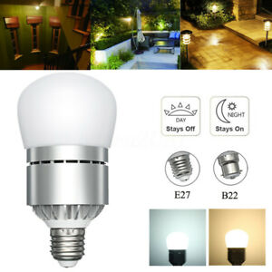 85-265v Porch Lights Dusk To Dawn Led Bulb 10w 15w E27 B22 Light Sensor Bulb Auto On/off Yard Garage Garden Outdoor Lighting Led Outdoor Wall Lamps Led Lamps