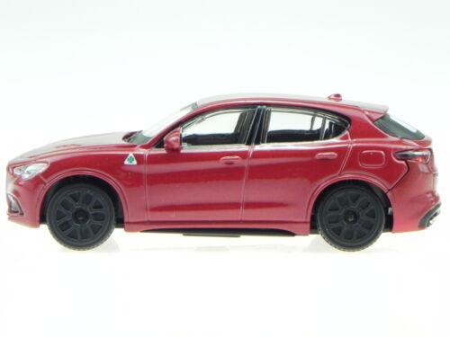Alfa Romeo Stelvio red diecast model car 30389 Bburago 1:43