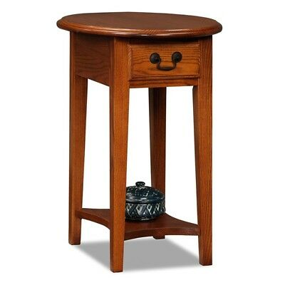Small Round End Table Storage Drawer Side Shelf Accent Living Room Furniture New Ebay
