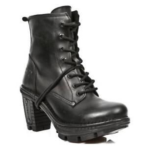 Bottes en Punk gothiques Back s18 Back pour Rock dames classiques cuir Neotr008 New vxZtFqXq
