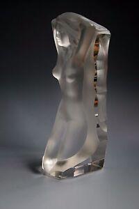 STUNNING-BOHEMIAN-ART-DECO-NUDE-LADY-GLASS-SCULPTURE