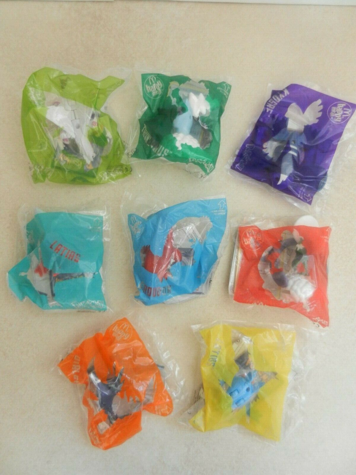 BNIP McDonald's Happy Meal Pokemon Full Set of 8 Toys New Sealed Bags 2019 Set