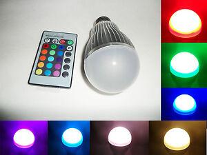 e27 gu10 e14 rgb led lampe leuchte fernbedienung 16 farbwechsel 10w birne ebay. Black Bedroom Furniture Sets. Home Design Ideas