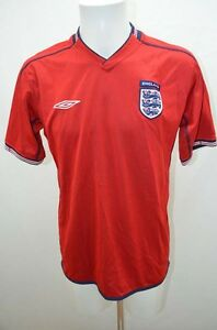 UMBRO-MAILLOT-T-SHIRT-DE-FOOT-SPORT-FOOTBALL-JERSEY-36-S-ROUGE-ANGLETERRE