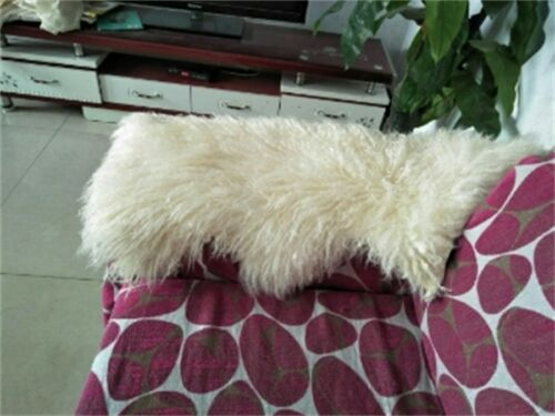 1.8X3.5/'Real Mongolian Fur Throw Tibetan Lambskin Rug Hide Pelt Curl Hair Carpet