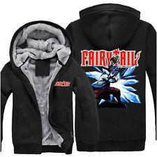 Anime Fairy Tail Gray Unisex Thicken Jacket Sweater Hoodie Coat Cosplay M - XXXL