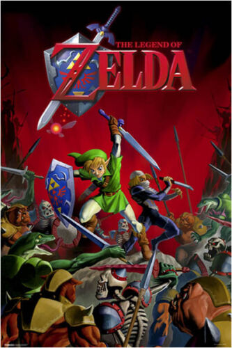 61X91CM LAMINATED NEW WALL ART THE LEGEND OF ZELDA FIGHT SCENE POSTER