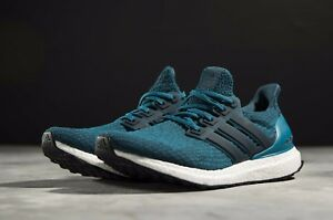sports shoes ae82d f3e40 Image is loading Adidas-Ultra-Boost-3-0-Night-Petrol-Blue-