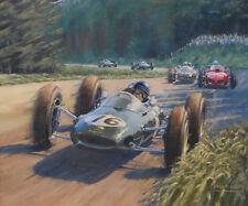 Formula 1 Jim Clark Lotus 25 Grand Prix Motor Sport Racing Classic Car Art Print