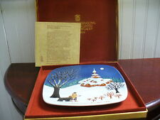 1974 Royal Doulton England Handpainted Porcelain Christmas in Bulgaria Plate
