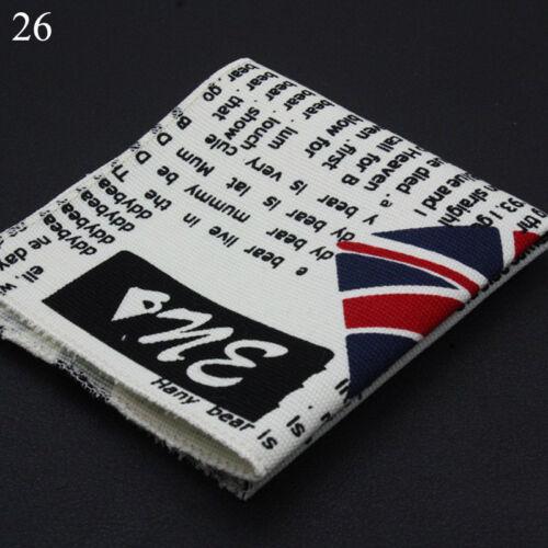 Men Linen Cotton Pocket Square Handkerchief Hanky Stripe Floral Stars Paisley