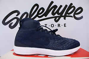 separation shoes 96afc 3d167 NIKE LUNAR MAGISTA II 2 FLYKNIT FC COLLEGE NAVY BLUE FOX WHITE ...