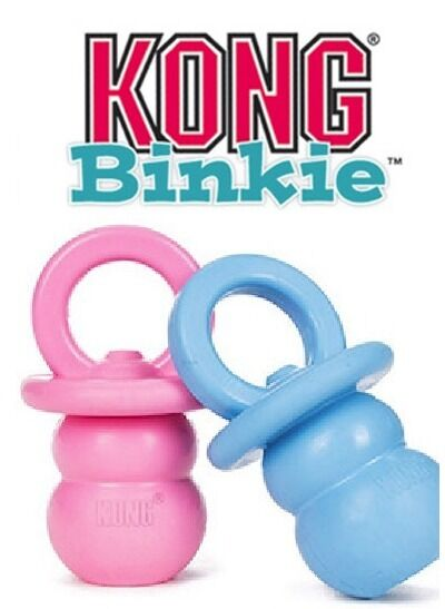 Kong Binkie Durable Puppy Teething And Soothing Chew - Treat Dispenser Toy