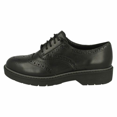 LADIES CLARKS LEATHER LACE UP SMART FORMAL WORK BROGUE SHOES SIZE ALEXA DARCY