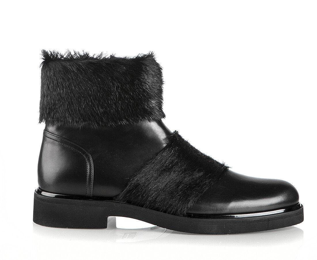 Authentic Loriblu Leather Italian Designer stivali New nero Dimensiones 6,7,8,9,10,11